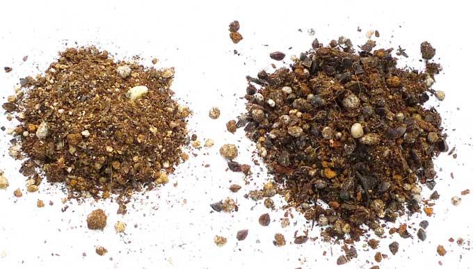 細くなった土の粒子