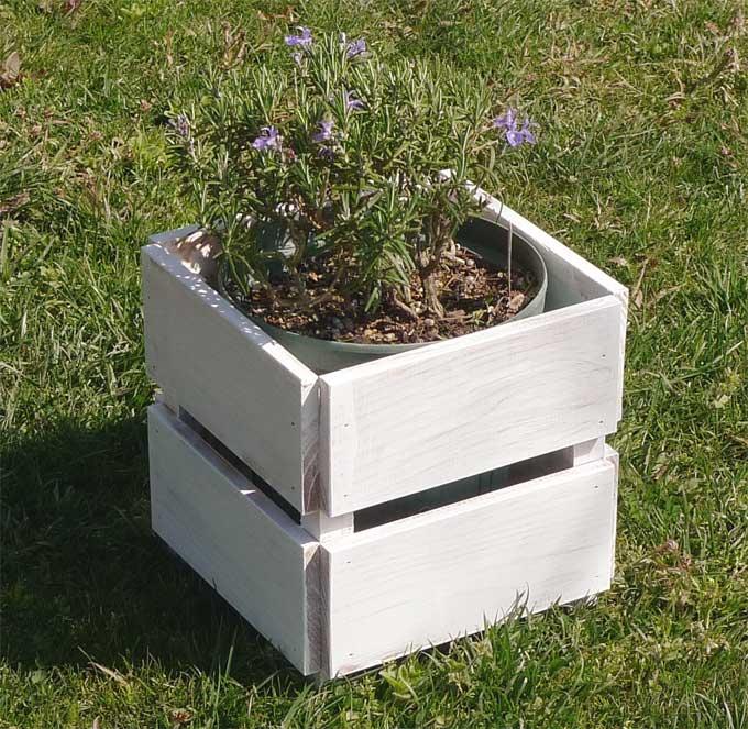 ハーブ鉢植えセット専用木製鉢カバー