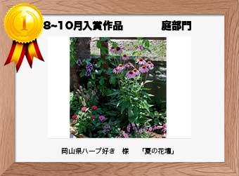 フォトコンテストエントリーNo.207  岡山県ハーブ好き 様  庭部門   「夏の花壇」
